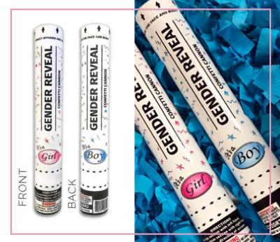 12 Blue Confetti Boy Gender Reveal Cannon Direct Sparklers