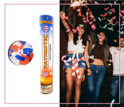 Patriotic USA Confetti Cannon Fourth July 4th Direct Sparklers