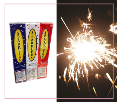 Patriotic USA Sparklers Fourth July 4th Direct Sparklers