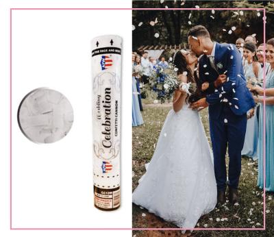 Wedding Celebration White Silver Confetti Cannon Marriage Direct Sparklers